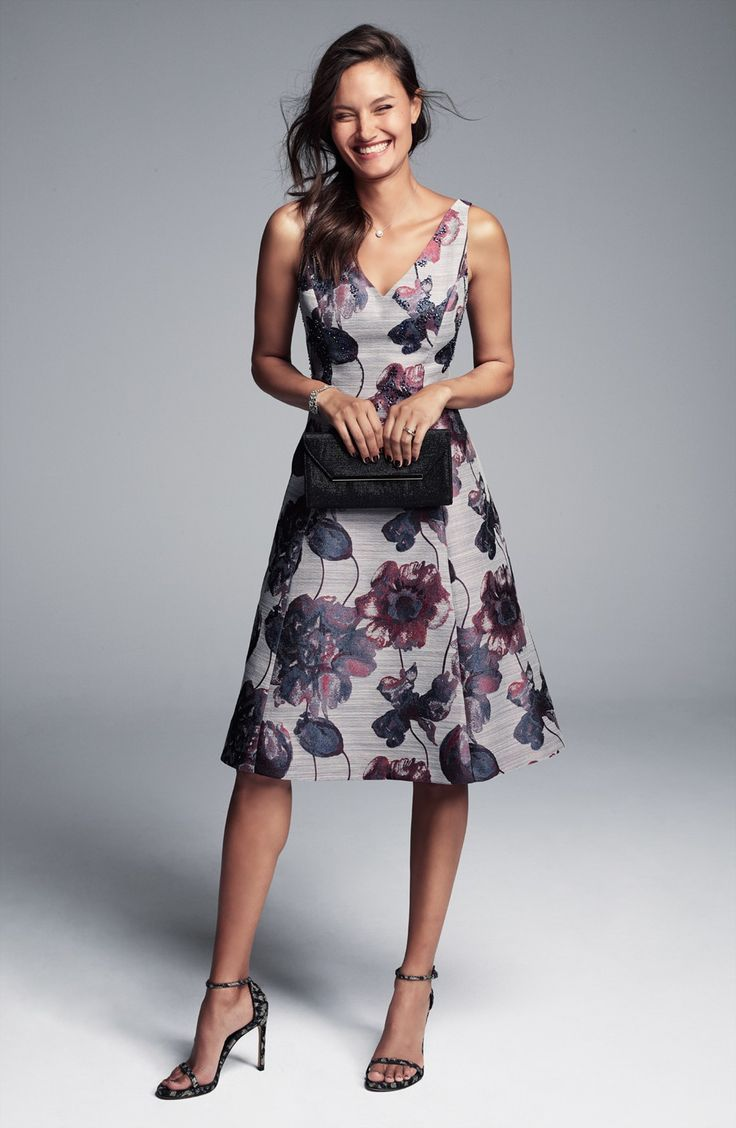 Casual and dressy casual wedding guest dresses casual for Floral wedding guest dresses