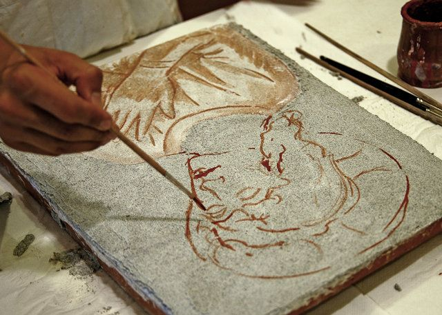 Dipingere in fresco tra '400 e '500 con la stessa tecnica utilizzata dai pittori fiorentini del Rinascimento e portare a casa il piccolo affresco realizzato