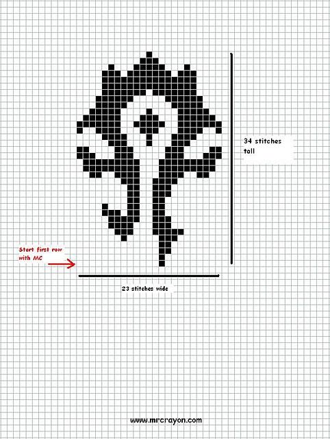 Ravelry: Horde Symbol Chart pattern by Kristin Lewallen