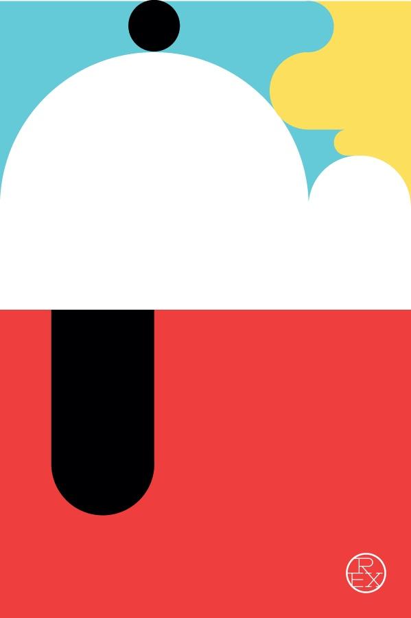 Snoopy & Woodstock minimalism. #ComicStrips #Peanuts