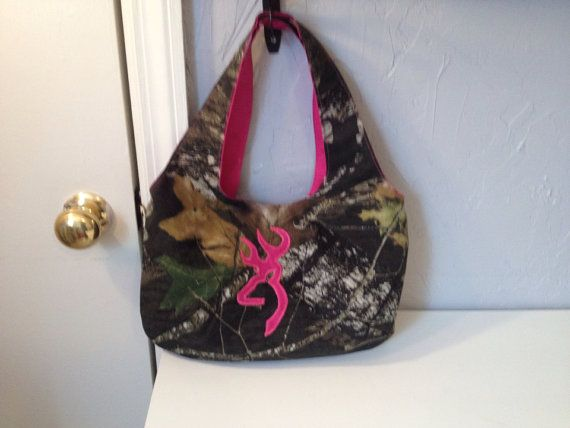 Pink Mossy Oak Camo Purse with Browning Symbol by HidesHobby, $16.00