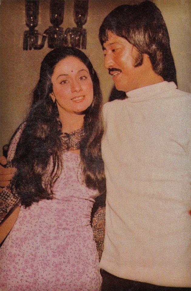 Aruna Irani and Danny Denzongpa