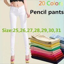 Caldo.  Pantaloni dei jeans delle donne 2014 delle nuove donne sexy molla elastica caramelle colorate pantaloni matita pantaloni jeans 2015 jeans delle donne estate(China (Mainland))