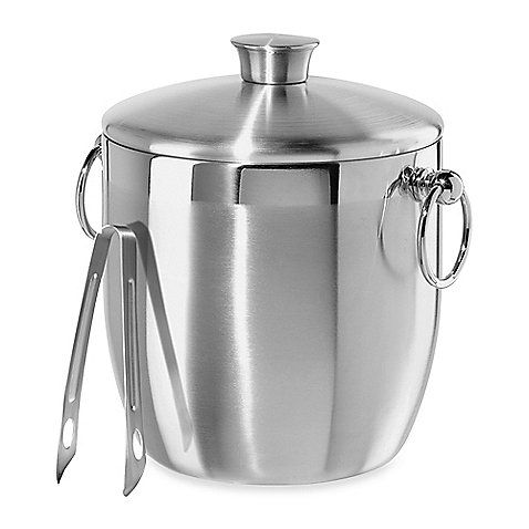 The perfect match for contemporary home décor, the Oggi™ Stainless Steel Double Wall Ice Bucket with Tongs is a great addition to any kitchen. With a 3-quart capacity, the steel ice bucket is an ideal size for home entertaining.