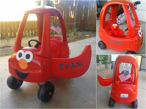 Cozy Coupe Makeover! Elmo style