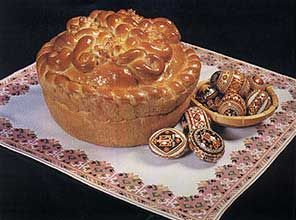 Ukrainian Easter Bread - Paska Another bread gramma would make, but she couldn't be bothered to make the twists, we just wanted bread lol