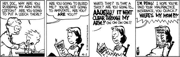 Calvin and Hobbes Comic Strip, April 01, 1986 on GoComics.com