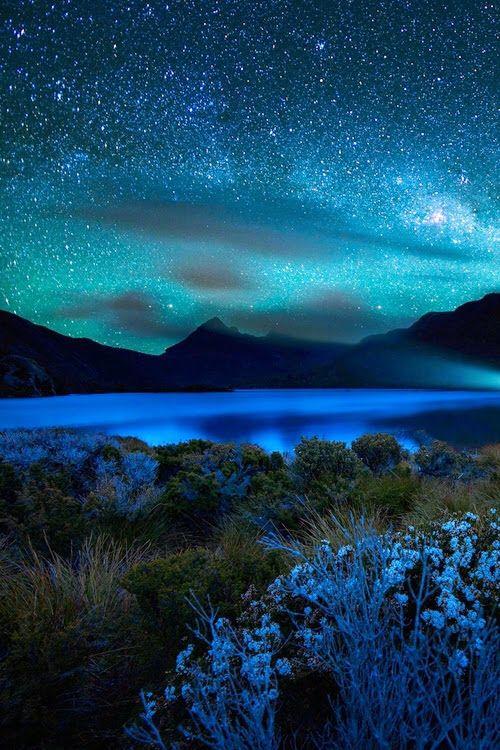 Night sky. Moonlight. Nature.  Water