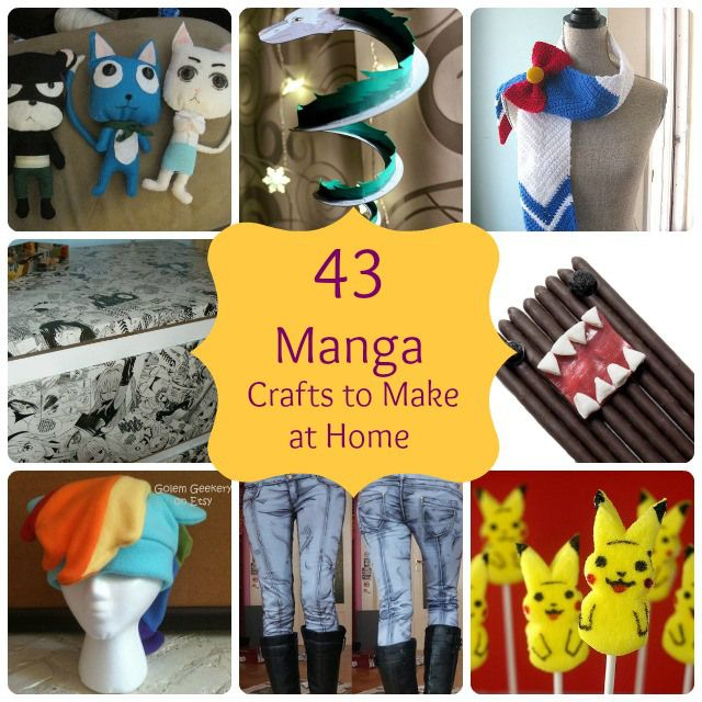 This has some manga craft ideas in it but not all of it is DIY...some of it is etsy crap.