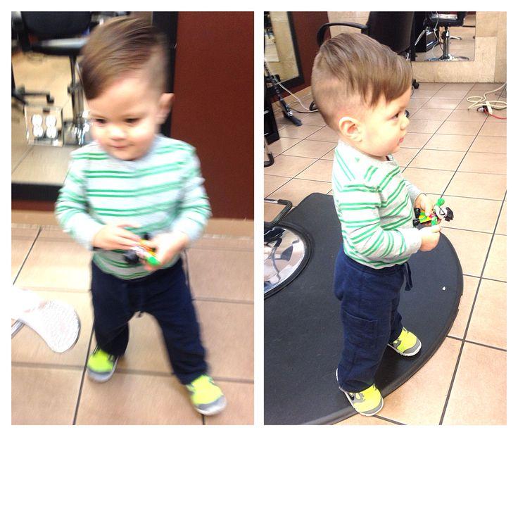 Toddler hipster haircut!