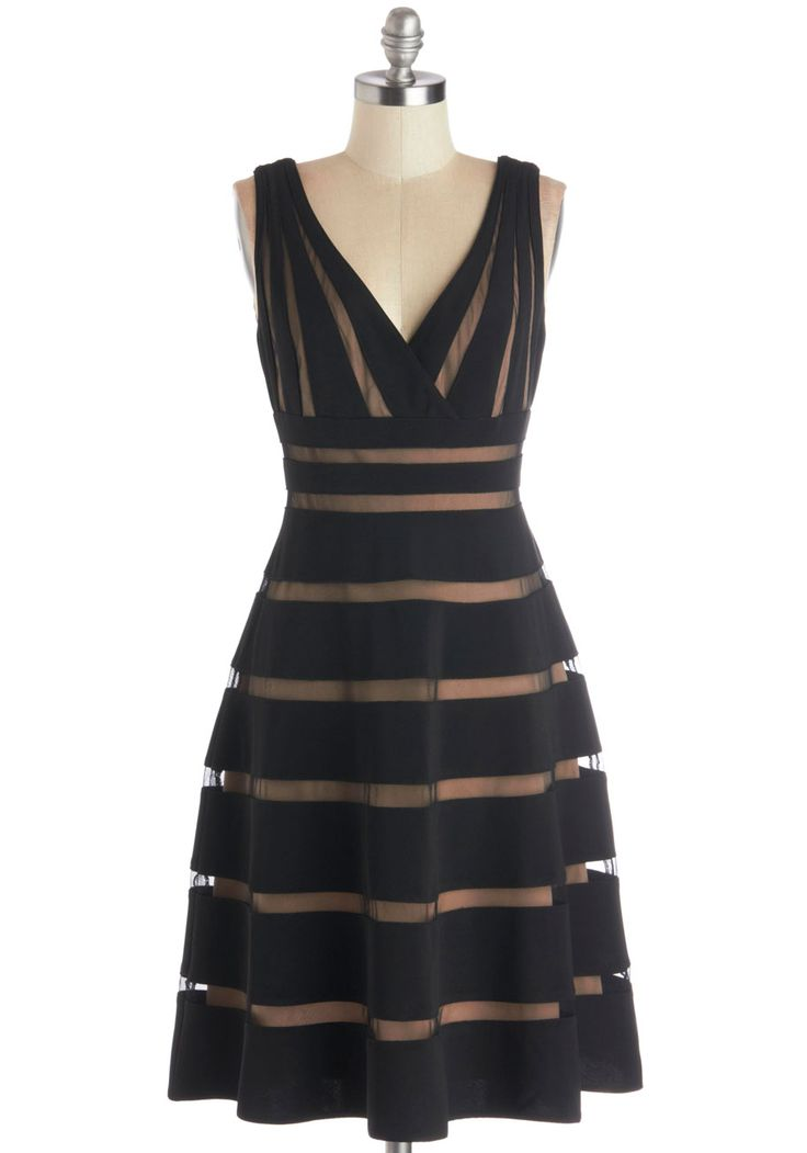 Correspondents' Dinner Date Dress. Your press member paramour has invited you to one of the most exclusive dinners of the year! #black #modcloth