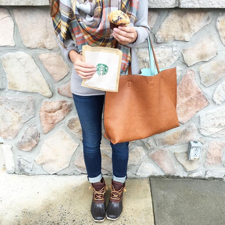 Cute look with Sperry duck boots. Still want the classic LL Beans though :)