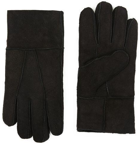 Topman Black Sheepskin Gloves