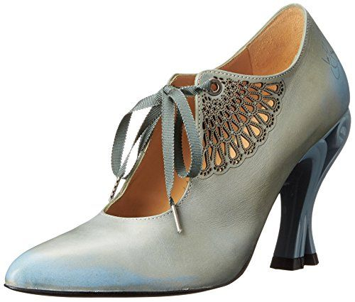 John Fluevog Women's Estella Dress Pump, Ice Blue, 11 M US