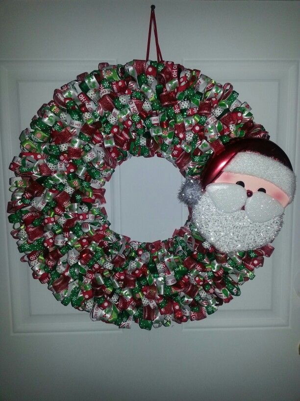 17 best images about crafts i 39 ve made on pinterest wood for Alphabet christmas wreath