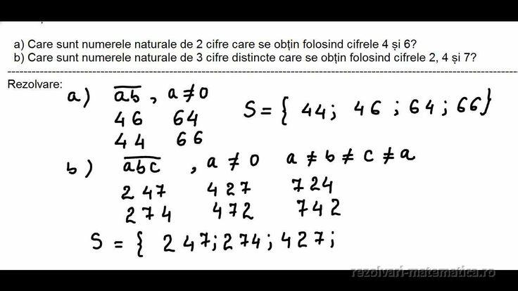 Exercițiul 5  a) Care sunt numerele naturale de 2 cifre care se obțin folosind cifrele 4 și 6? b) Care sunt numerele naturale de 3 cifre distincte care se obțin folosind cifrele 2, 4 și 7?