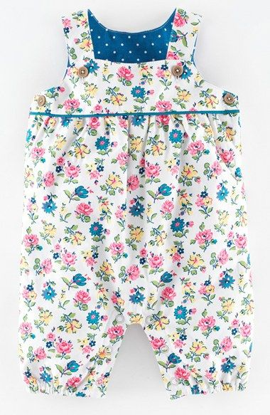 Mini Boden Floral Print Dungarees (Baby Girls) available at #Nordstrom