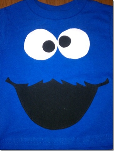 Easy DIY cookie monster shirt with a mini tutorial