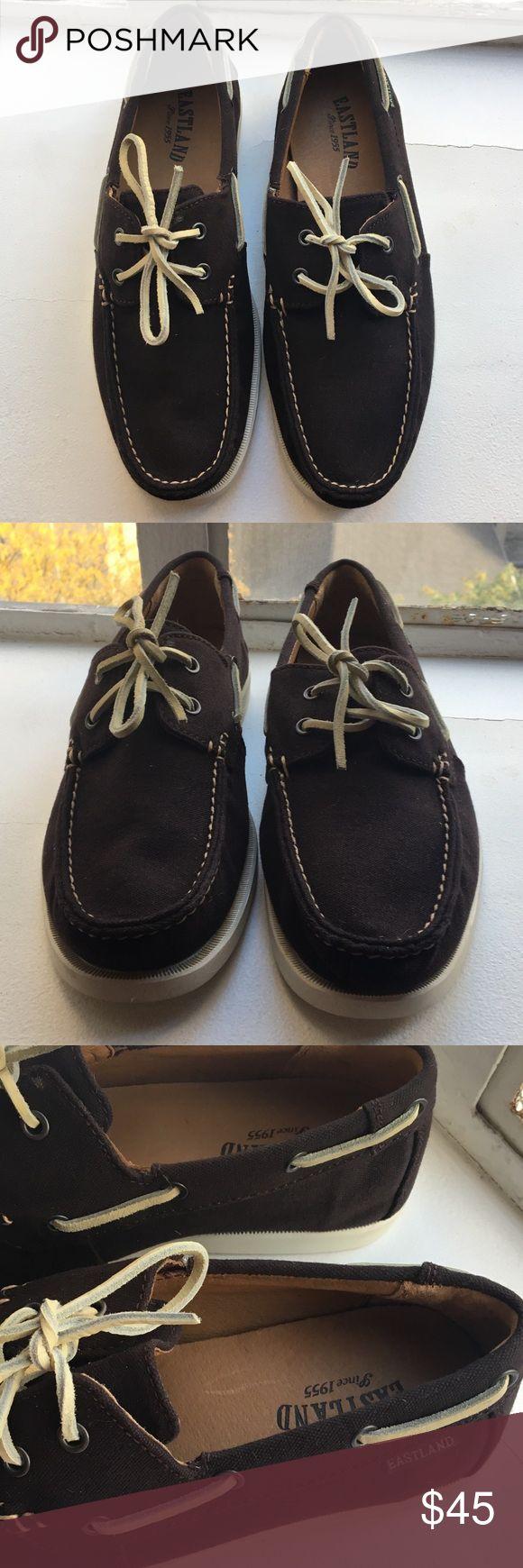 🚣♀️ Eastland Freeport Mens Boat Shoes 9.5 Great Condition! Eastland Mens Boat Shoes Slip-Ons Size 9.5. Canvas Material, Dark Navy or Black Color. 30% off 2 or more items Eastland Shoes Boat Shoes