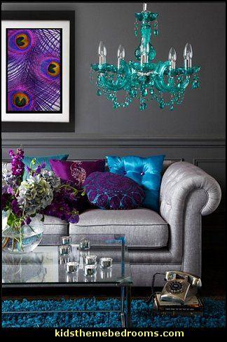 Peacock inspired living room