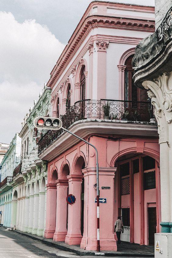 Cuba pink house.