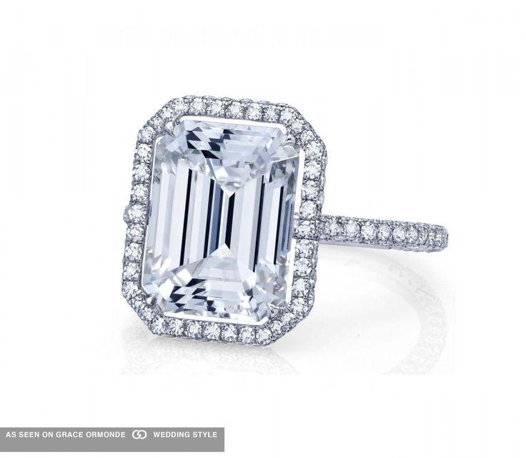Martin Katz diamond engagement ring. #martinkatz #katz #emeraldcut #weddingplanning #proposal #weddingideas #weddinginspiration #jewelry #bridal #bridaljewelry #diamond #engagementring #ring #engagement #luxuryweddings #graceormonde #weddingstyle