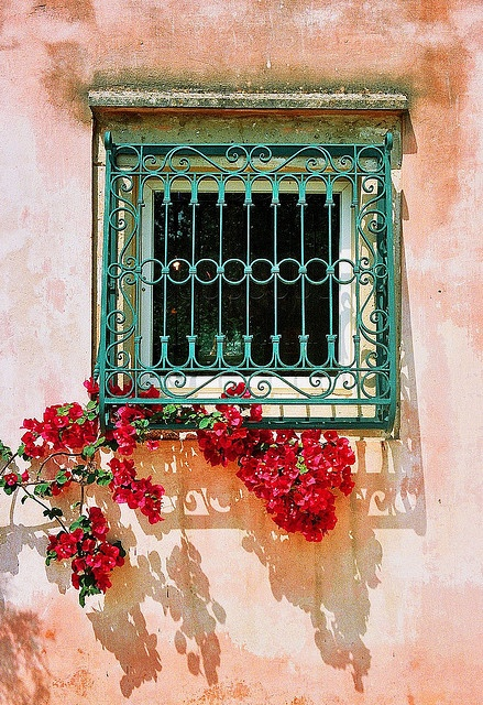 Window in parga, Greece
