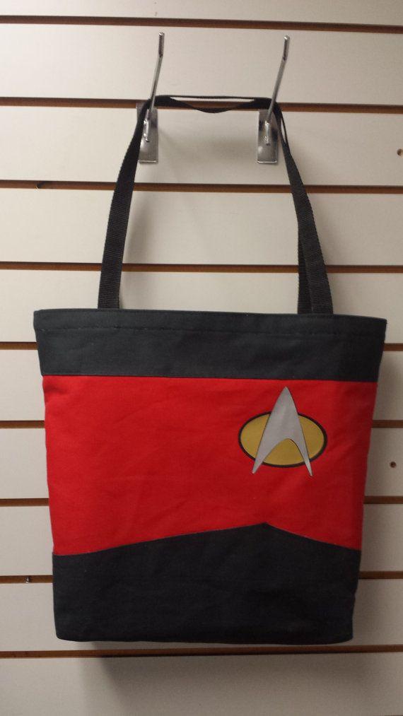 Red Shirt Cosplay Reusable Tote/ Shopping Bag $30