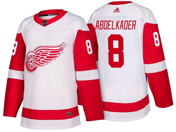 d1b16007e ... Mens Detroit Red Wings 8 Justin Abdelkader Stitched White 2017-2018  adidas Hockey NHL ...