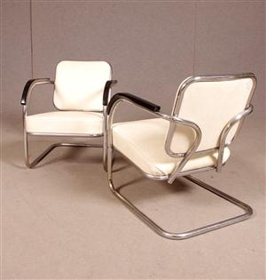 chairs, 1930s, chrome and leather.  Furniture & Things  Pinterest ...