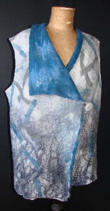 vest- wool & silk lap  by Jan Bosher