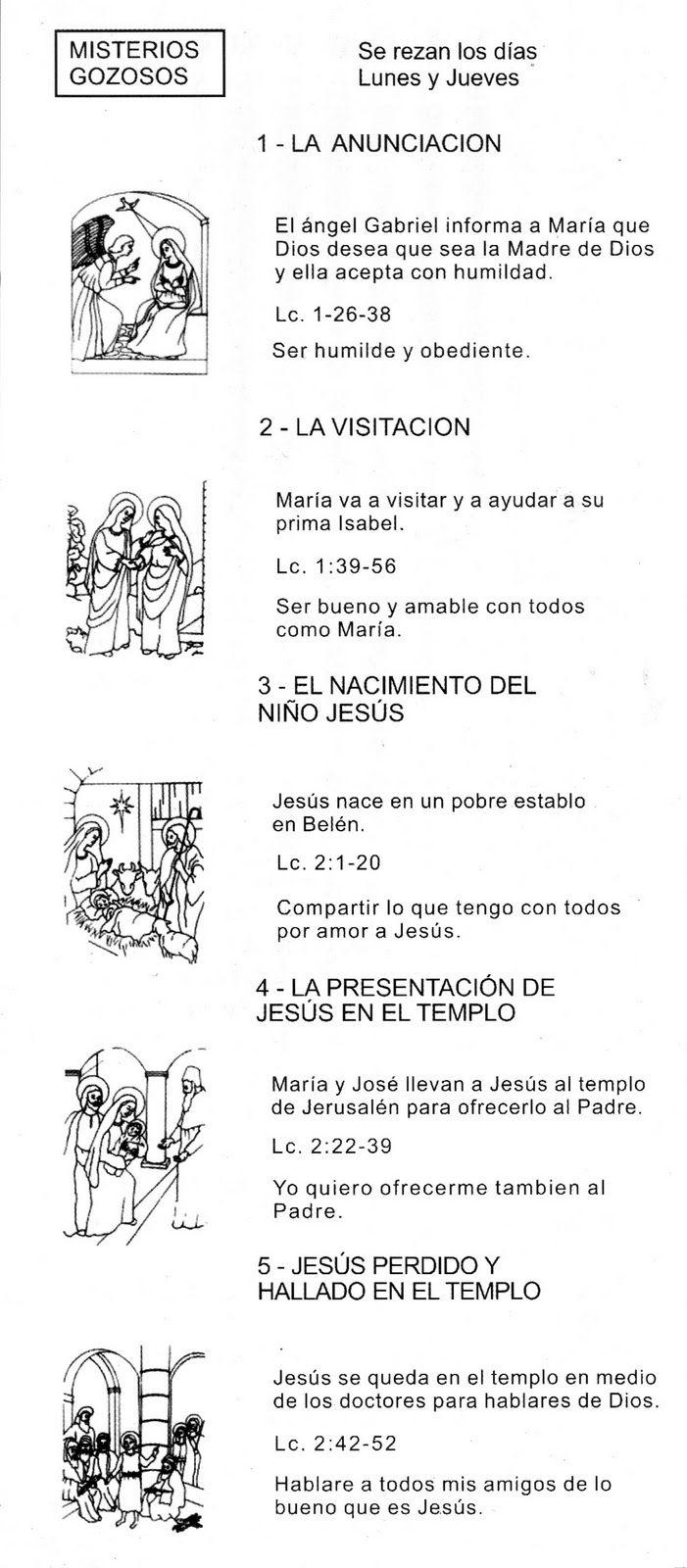 17 best Santo Rosario. images on Pinterest   Oraciones, La santisima ...