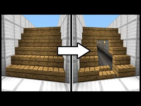 Hidden Staircase Doorway! - Minecraft Tutorial - YouTube