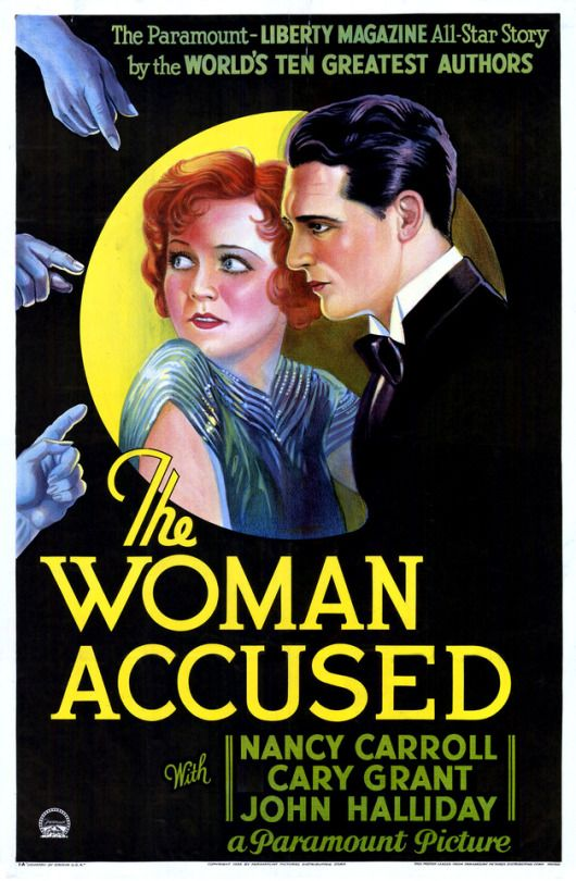 The Woman Accused (1933). Stars Cary Grant and Nancy Carroll