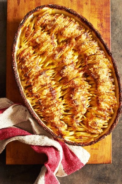 This golden and glorious mash-up of potato gratin and Hasselback potatoes, from the acclaimed food science writer J. Kenji López-Alt, has been engineered to give you both creamy potato and singed edge in each bite. (Photo: Melina Hammer for The New York Times)