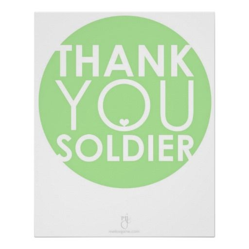 thank you SOLDIER Poster