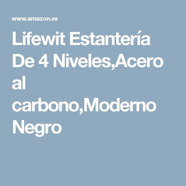 Lifewit Estantería De 4 Niveles,Acero al carbono,Moderno Negro