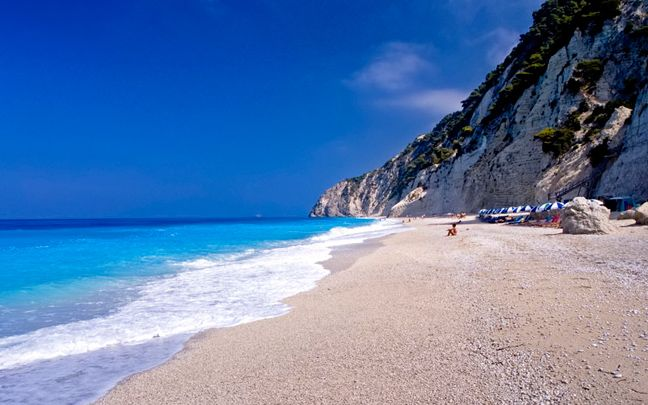 Egremnoi beach, Lefkada, Greece