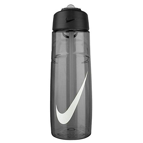 Buy Nike T1 Flow Swoosh Water Bottle, Black/White Online at johnlewis.com