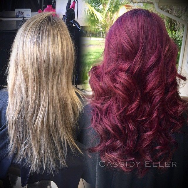 Big changes today !!! I used Paul Mitchell the color 5VR with purple color…