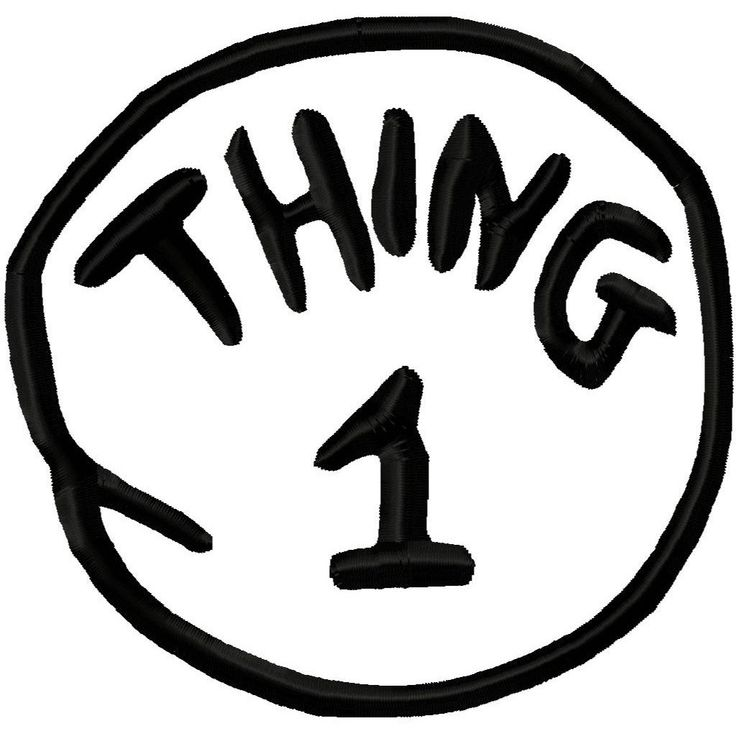 Witty image with thing 1 logo printable