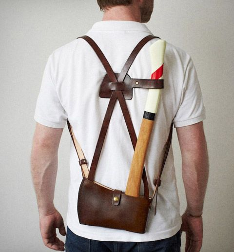 Great to still have your hands free to carry the wood you've just cut.