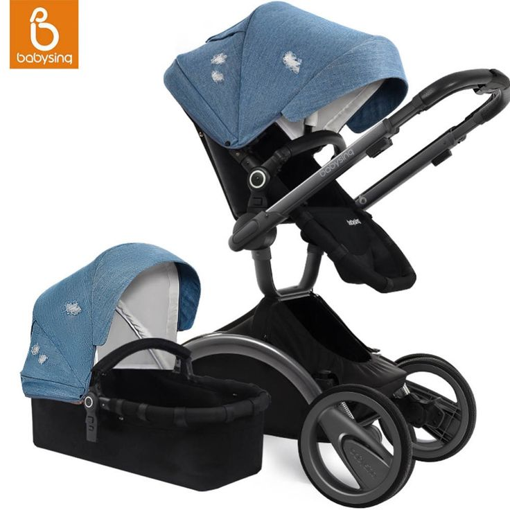 459.99$  Buy now - http://ali9ja.worldwells.pw/go.php?t=32786739543 - Babysing Baby Stroller 180 Degree Rotation Seat Four Wheels High Landscape Strollers Fold Reversible Handle Pram and Pushchair  459.99$