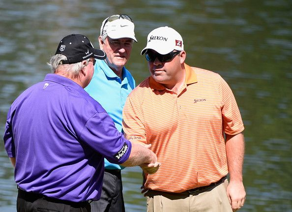 Craig Stadler Photos Photos - Craig Stadler and Kevin Stadler of the United States shake hands on the ninth green as Dave Stockton looks on during the 2014 Par 3 Contest prior to the start of the 2014 Masters Tournament at Augusta National Golf Club on April 9, 2014 in Augusta, Georgia. - The Masters: Previews