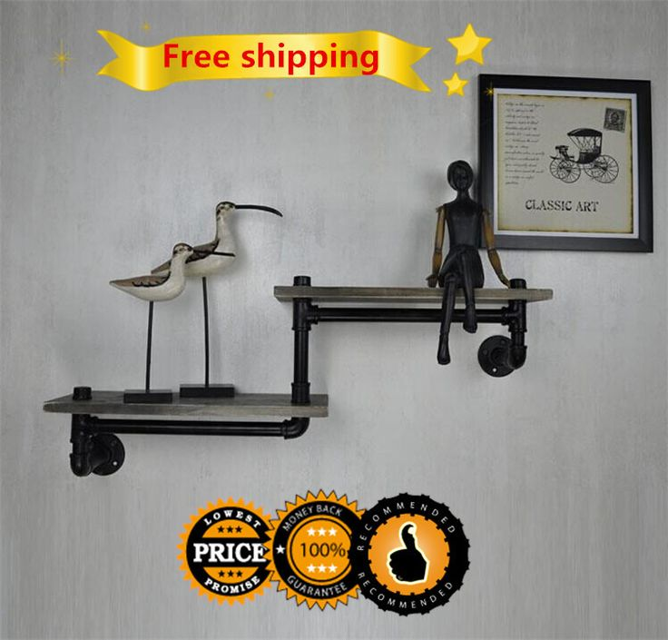 Find More Swivel Plates Information about American Old Industrial Pipes Iron to do the Old Retro Creative LOFT  Wall Shelf  Bookcase Wood Retro Z7,High Quality shelf ledges,China shelf Suppliers, Cheap shelf material from Pipe love lamp on Aliexpress.com
