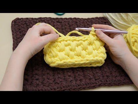 Как пришить подкладку к сумке из трикотажной пряжи - YouTube