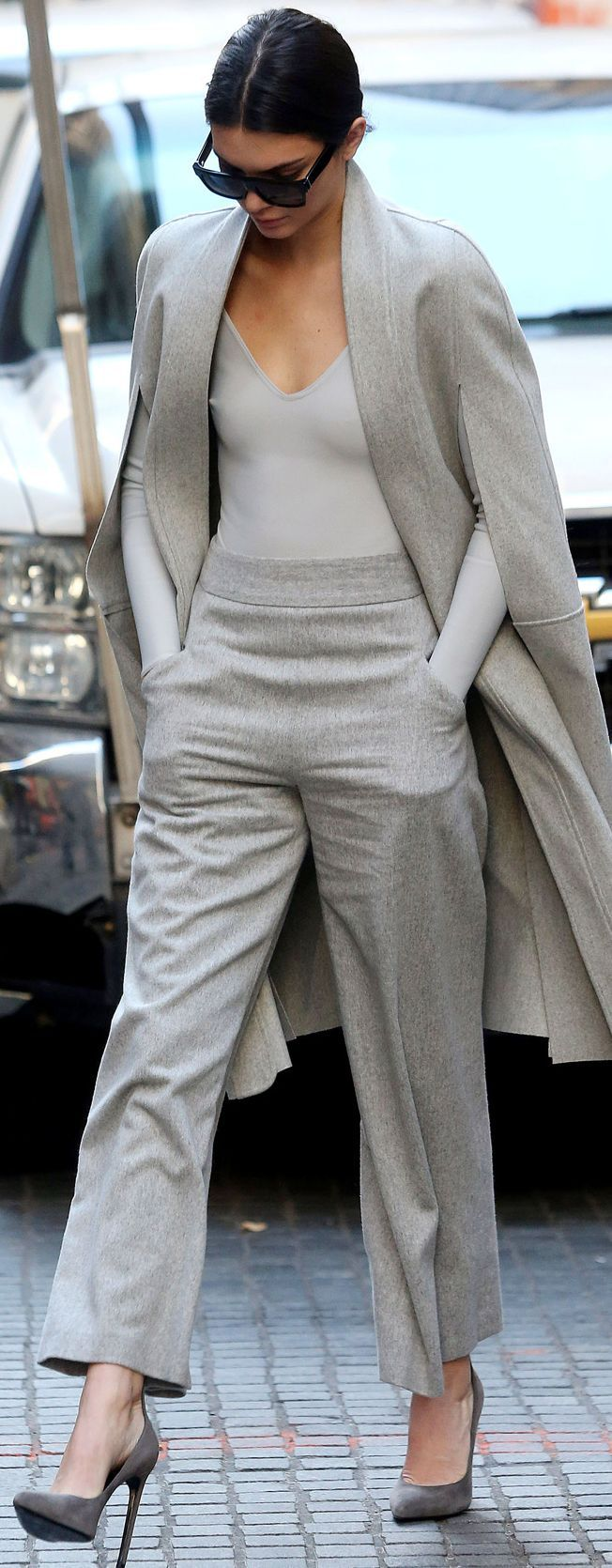 Kendall Jenner Shades Of Gray Fall Streetstyle Inspo by Mode d'Amour