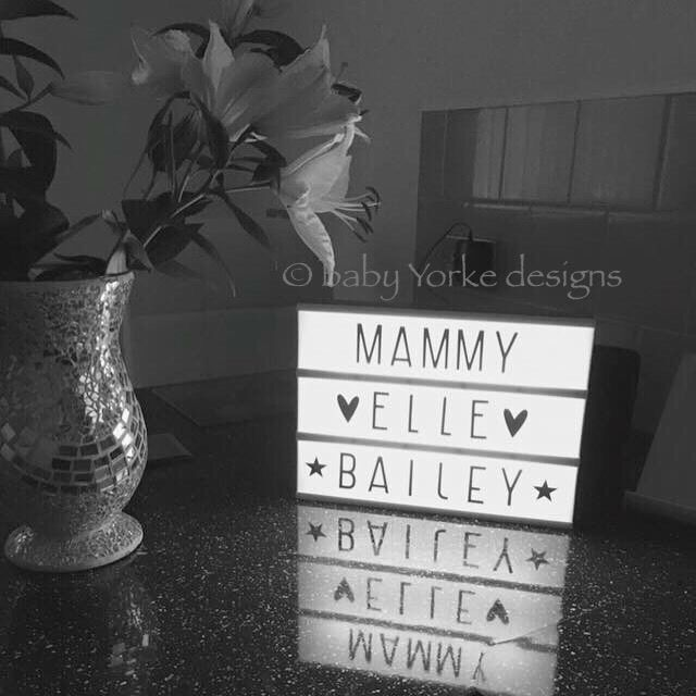 A4 (three row) cinematic lightbox sign in Home, Furniture & DIY, Lighting