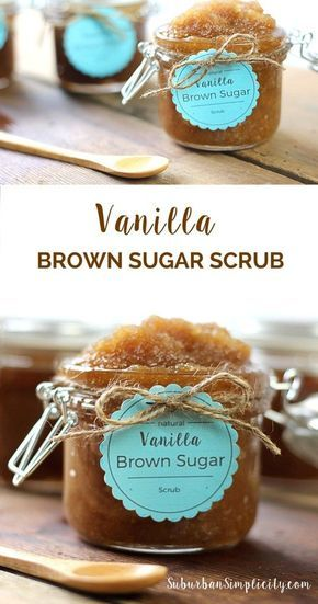 This Vanilla Brown Sugar Scrub recipe smells so good and is easy to make! These are perfect to make and hand out as gifts, but make sure to keep some for yourself too!
