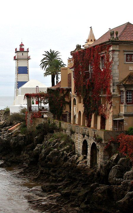 Cascais lighthouse and Palace Conde Carstro de Guimarães - Portugal (by Jim_Hart)